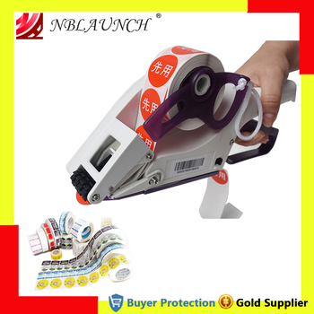 Manual Labeling Machine Labeler Hand Hold Cap Bottle Cover Adhesive Sticker Price Tag Labeller Flat Bar Code Label - sale item Kitchen Appliances