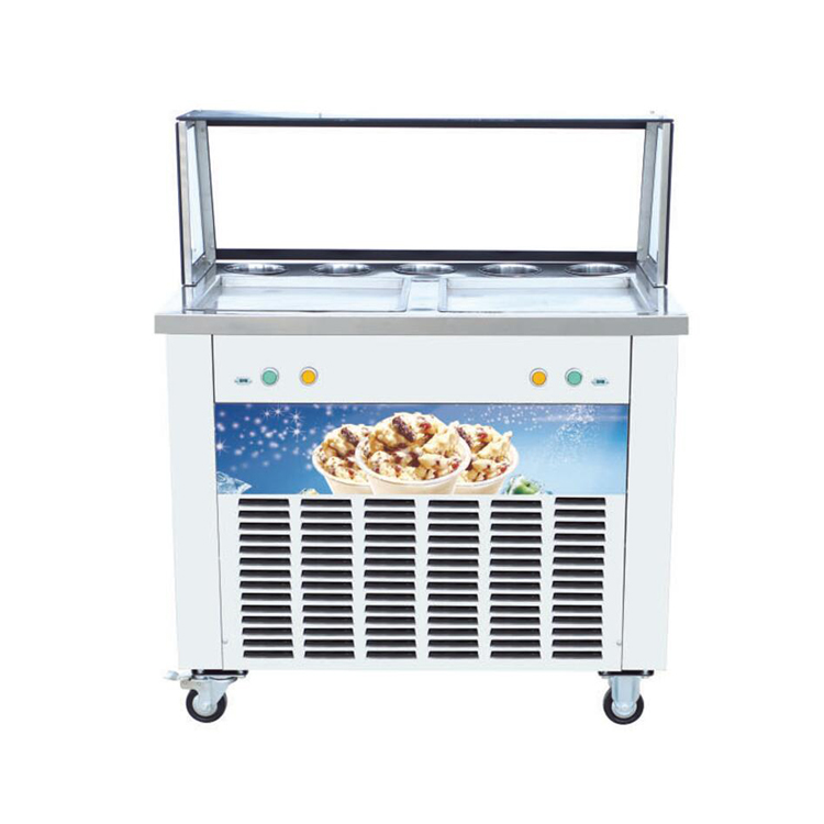 Factory Price Mobile Philippines Rolled Fried Ice Cream Machine Ice Cream Roller