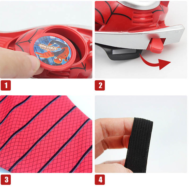 5 Styles PVC 24cm Batman Glove Spiderman Launcher Cosplay Toys 4