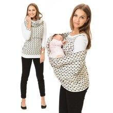 Seven-quarter Sleeve T-shirt Nursing Tank Top Maternity Clothes Nurse Tops Breastfeeding Tee Women