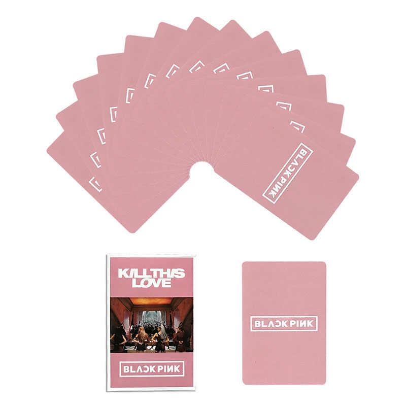 54 قطعة/المجموعة KPOP Blackpink LOMO بطاقة Bangtan بنين صور بطاقة بريدية صور القرطاسية لوازم الديكور مروحة الهدايا
