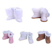 1 pair of winter new mini doll plush boots 7cm shoes suitable for 18 inch American accessories, generation, Christmas gifts