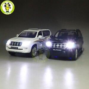 Image 3 - 1/32 CAIPO 2019 Land Cruiser Prado Diecast SUV 자동차 모델 완구 어린이를위한 사운드 조명 Pull Back gifts