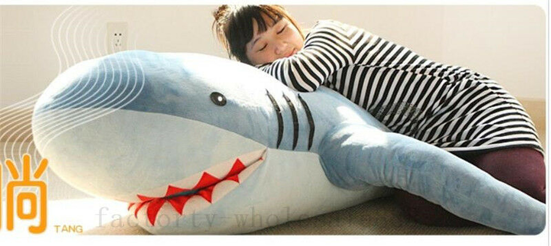 Giant Shark Plush Stuffed Animal Soft HugeToy Pillow Doll Sofa Xmas New Gift Hot