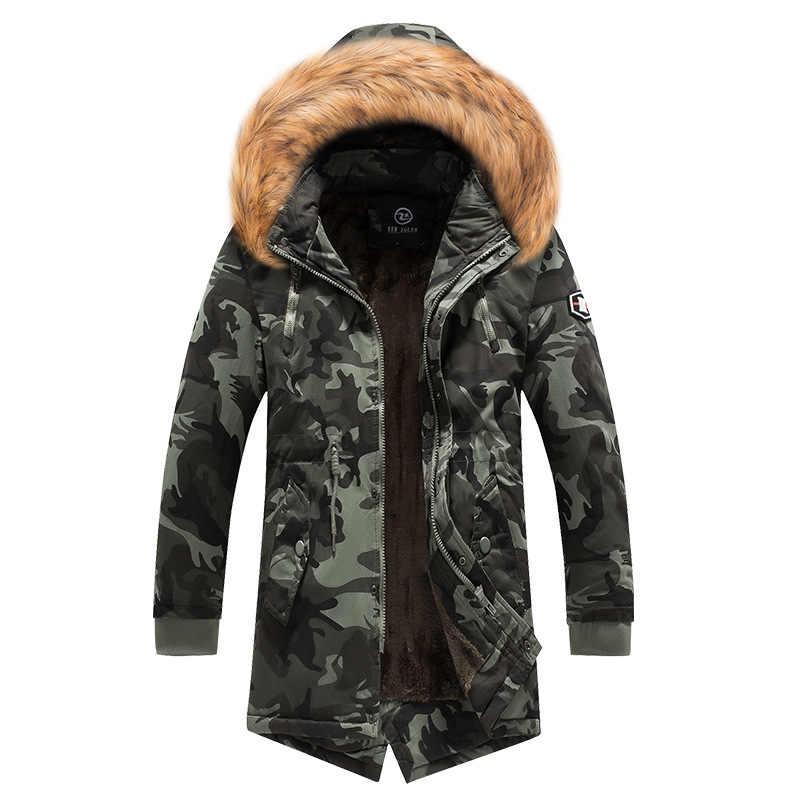 Nouvelle veste d'hiver hommes-30 degrés épaissir chaud hommes Parkas à capuche polaire hommes vestes Outwear coton manteau Parka Jaqueta Masculina