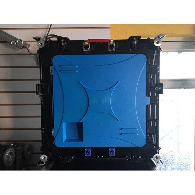 6 قطعة شاشة ليد عالية الدقة P4 سمد داخلي 512x512 مللي متر يموت الصب كابينة ألومنيوم تأجير شاشة LED للإعلان مع معالج الفيديو