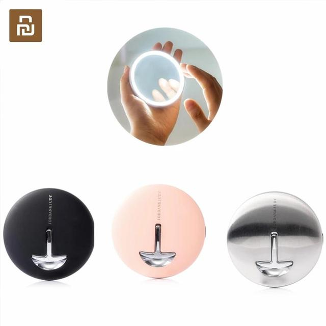 Youpin jordan & judy hd led espelho de maquiagem cor luz mini controle toque portátil sensing espelho cosméticos beleza maquiagem ferramenta