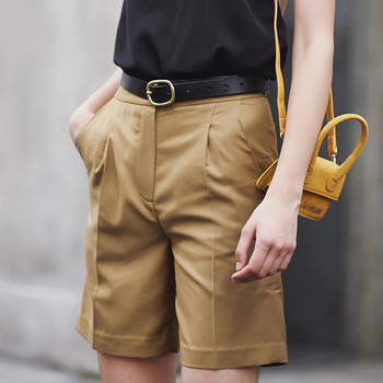AEL été Short pour femmes taille haute jambe Large pantalon court femme grande taille solide Short streetwear