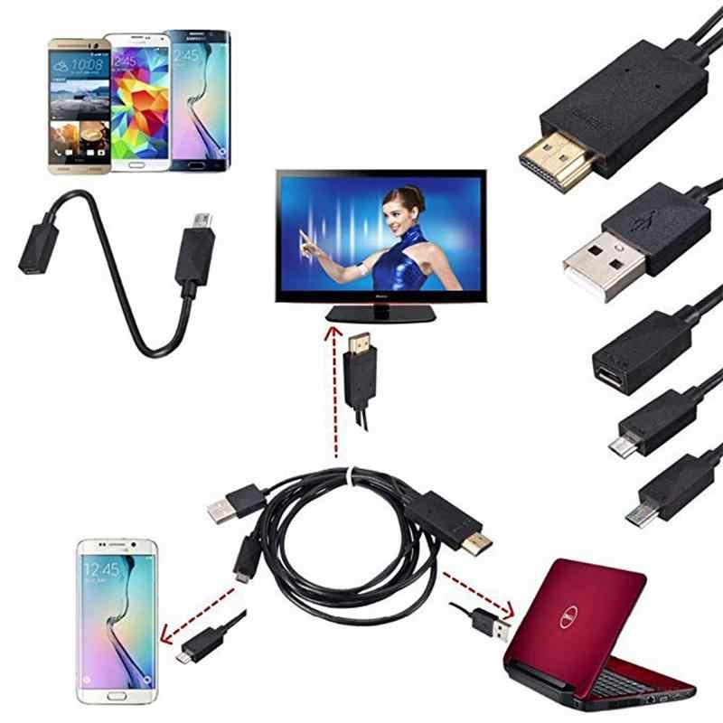 Micro USB MHL untuk HDMI 1080P HD TV Kabel Adaptor 5Pin dan 11Pin Kabel HDMI untuk Samsung Android Smartphone tablet TV