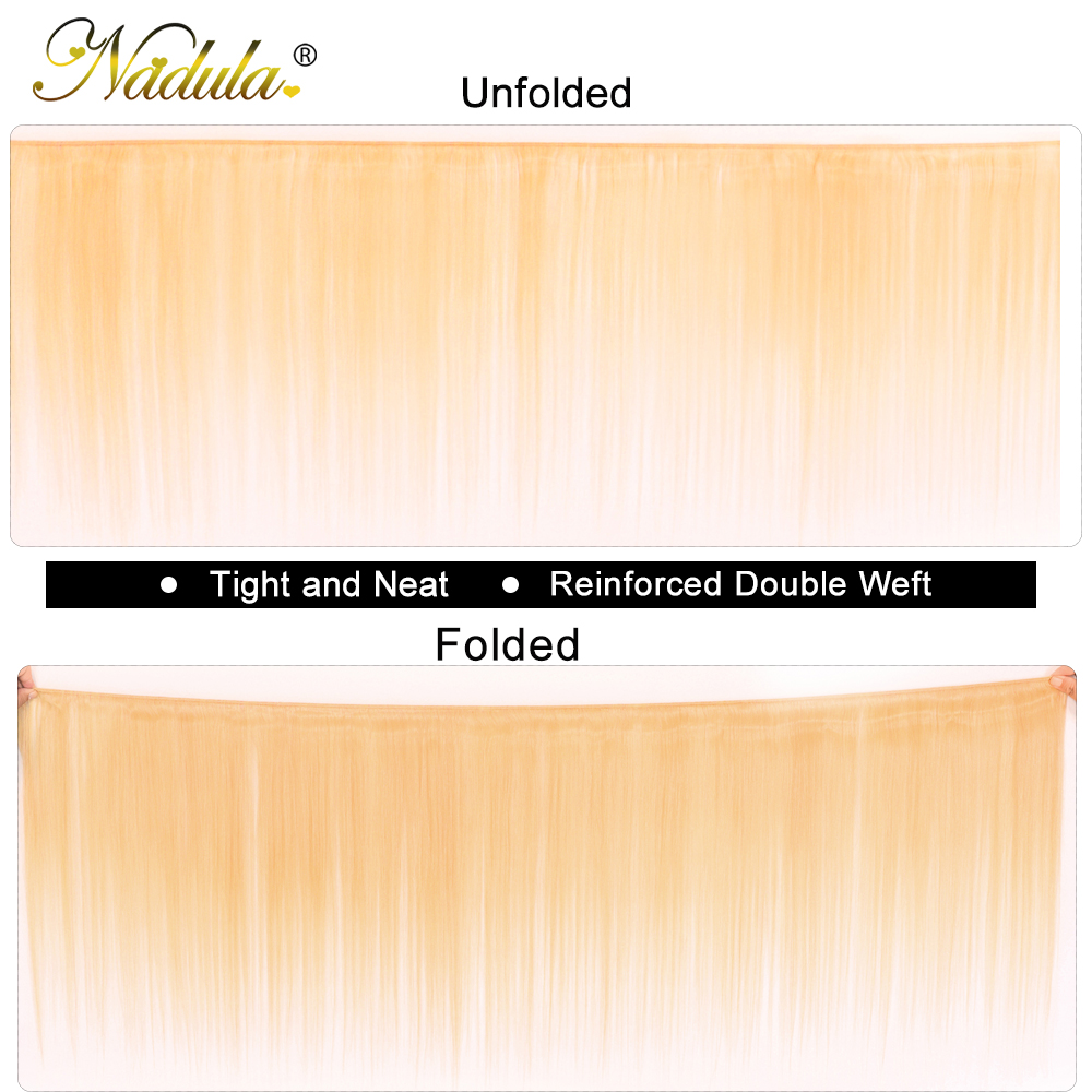 Nadula Hair 613 Blonde Hair One Bundle Straight 100%  s 10-24inch Blonde  Hair s  2