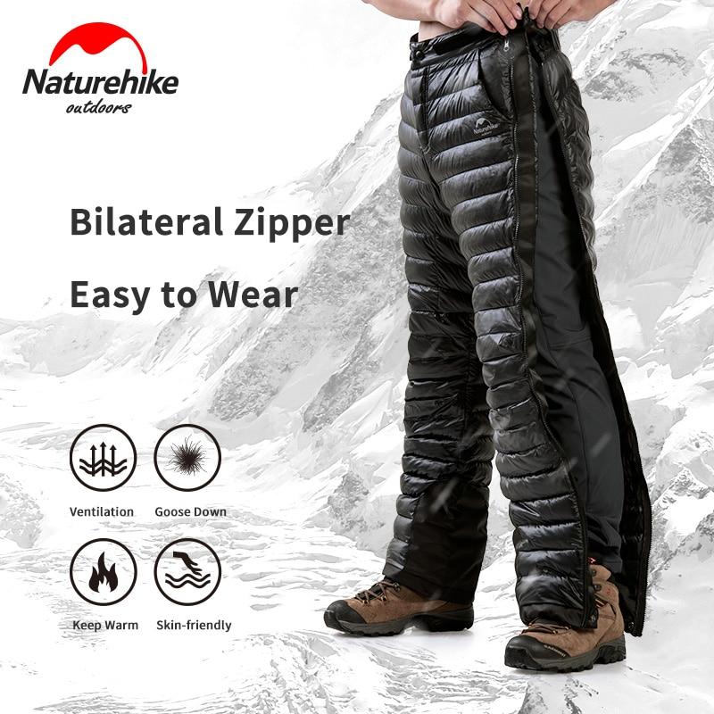 Naturehike Winter -5°C~ -20°C Goose Down Pants Outdoor Camping Double Side Zipper 20D Nylon Waterproof Wear Men Women Warm Pants