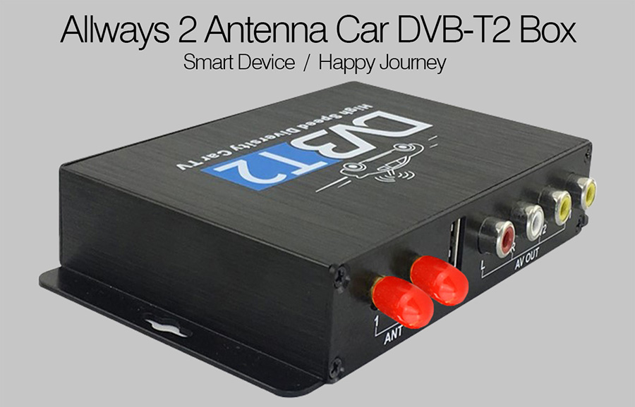 Allways <font><b>Car</b></font> DVB-T / <font><b>Car</b></font> DVB-T2 Digital <font><b>TV</b></font> Receiver Two Tuner & Two Antenna USB / HDMI / HDTV Tuner Mpeg4 High Speed 80Km~150Km image