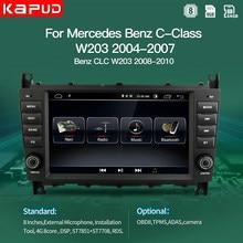 Автомобильный мультимедийный плеер Kapud, Android 10, Авторадио с GPS для Mercedes Benz C-Class W203/CLC W203, радио-навигация, стерео BT