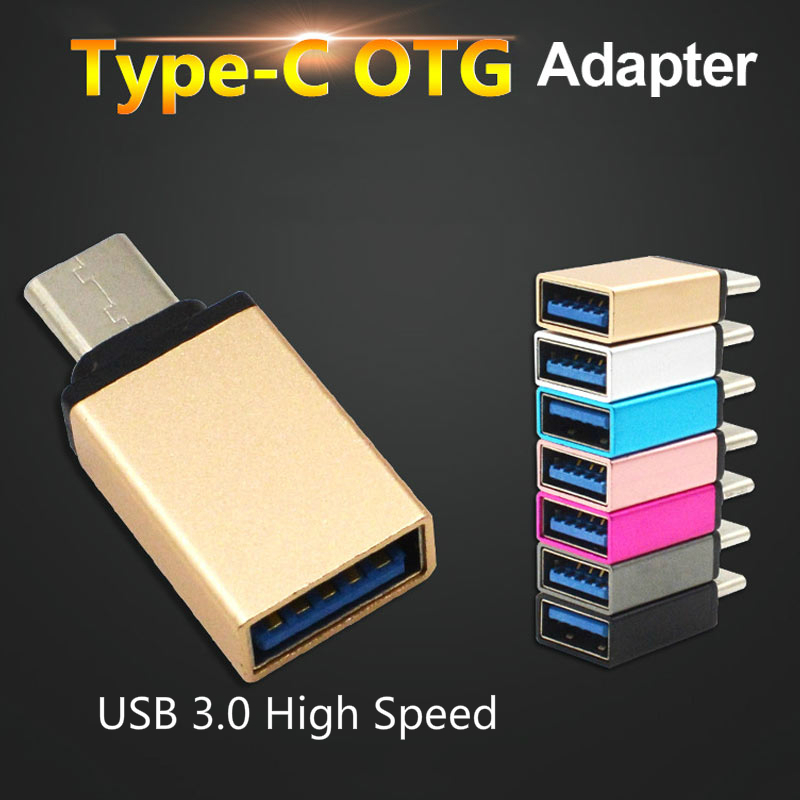 OTG USB 3.0 Type C Adapter USB-C Type-C Converter For Huawei Samsung Xiaomi Mi5 Mi6 Mouse Keyboard USB DIsk Flash Drive-ADAPTER