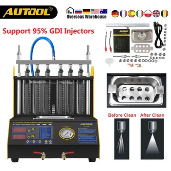 AUTOOL CT200 Gasonline Nozzle Cleaner Fuel Injectors Car Motorcycle Auto Ultrasonic Injector Cleaning Tester Machine PK CNC602A