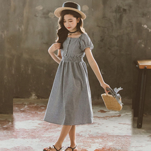 2020 Teenager Kids Dresses For Girls Cotton Casual Girls Summer Dress 4 5 6 7 8 9 10 11 12 13 14 15 Years Children Teen Clothing kids dresses for girls sweaters 2017 new autumn cotton sweater dress for girls clothing school kids clothes 10 11 12 13 14 years