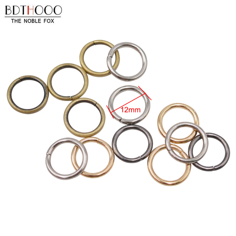 DIY Ring Buckle 100pcs/lot 12mm Metal Small Circle For Chainring Buckles O For Bag Part DIY Handbags Hardware Accessories
