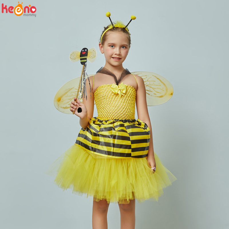 Lil Bee Dress Insect Bee Girls Fancy Dress Costume