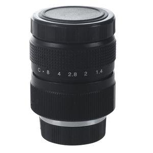 Image 1 - تلفاز عدسة/عدسات كاميرات مراقبة لكاميرا سي ماونت 25 مللي متر F1.4 باللون الأسود