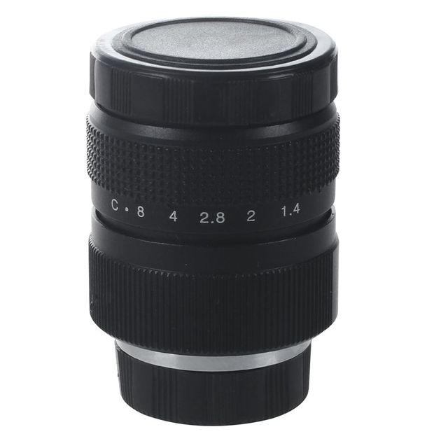 Television TV Lens/CCTV Lens for C Mount Camera 25mm F1.4 in Black