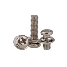 50PCS M2 M2.5 M3 M4 M5 M6 Button Head Philips Screw Sping/Flat Washer Plating Nickel