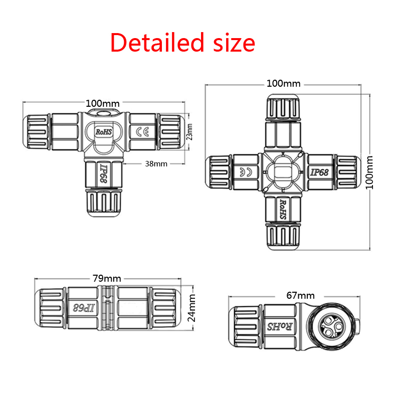 waterproof connector SIZE
