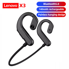 Lenovo Bluetoothワイヤレスヘッドセット,x3デバイス,制汗,マイク付き,サイクリング,ランニング,運転用のスポーツヘッドセット,2021