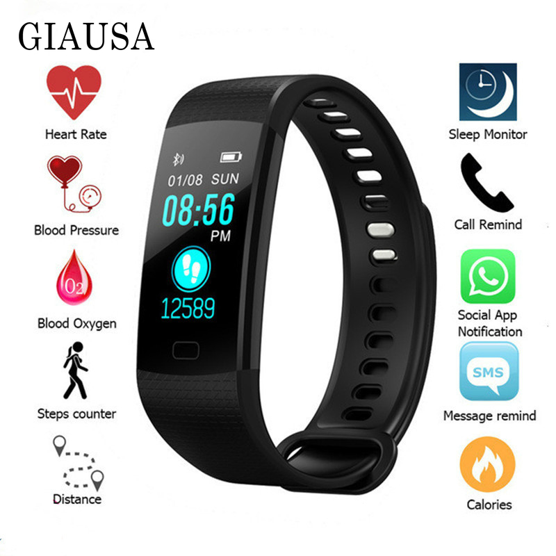 2019 <font><b>Smart</b></font> <font><b>Watch</b></font> Women Men Sport Fitness Intelligent Wristband Heart Rate Blood Pressure Color Screen Reloj Digital <font><b>Mujer</b></font> Clock image