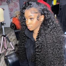 Водная волна Синтетические волосы на кружеве парик Полный Синтетические волосы на кружеве человеческих волос парики для чернокожих Для же...