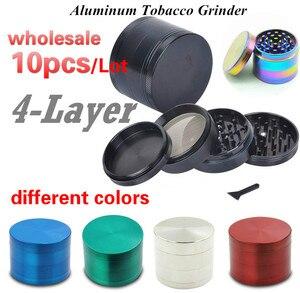 10 piezas al por mayor Manual molinillo de tabaco accesorios para fumar fácil seca hierba mariguana tabaco Cannabis pimienta latas Herb grinder
