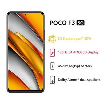 Глобальная версия POCO F3 5G смартфон 6 ГБ 128 Snapdragon 870 Octa Core 4