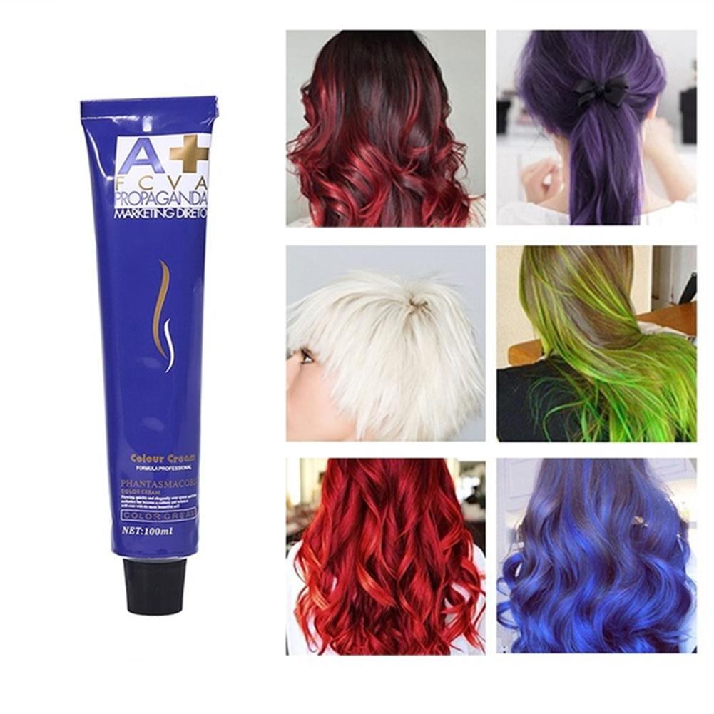 100ml Unisex Professional Color Fashion Styling Hair Cooling Dye Cream