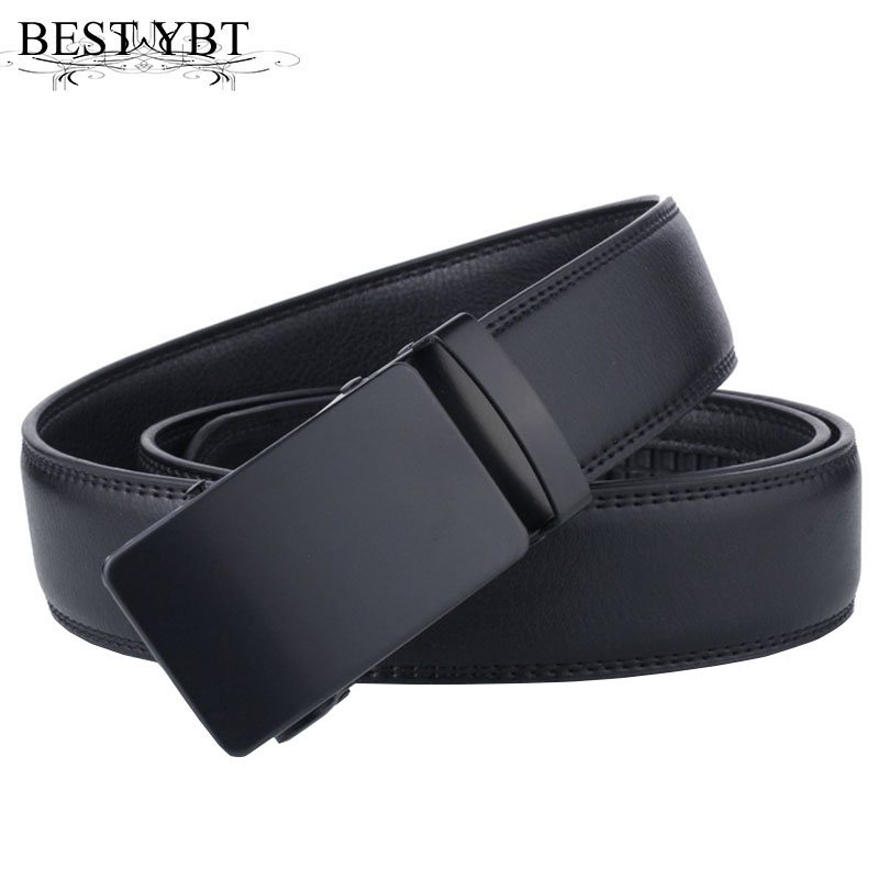 Best YBT Men Imitation Leather Belt Alloy Automatic Buckle Belt High Quality Business Affairs Casual Fashion Men Hot Sale Belt