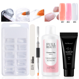 1/5PCS Acrylic Gel Nail Kits Fast Building Extension Gel Polishes Crystal UV Builder Gel Nail Brush Tips Manicure Set LA1791