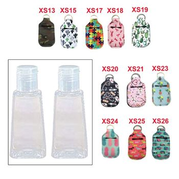 Hand Sanitizer Keychain Holder Travel Bottle Refillable Containers 30ml Flip Cap Reusable Bottles with Keychain Carrier недорого