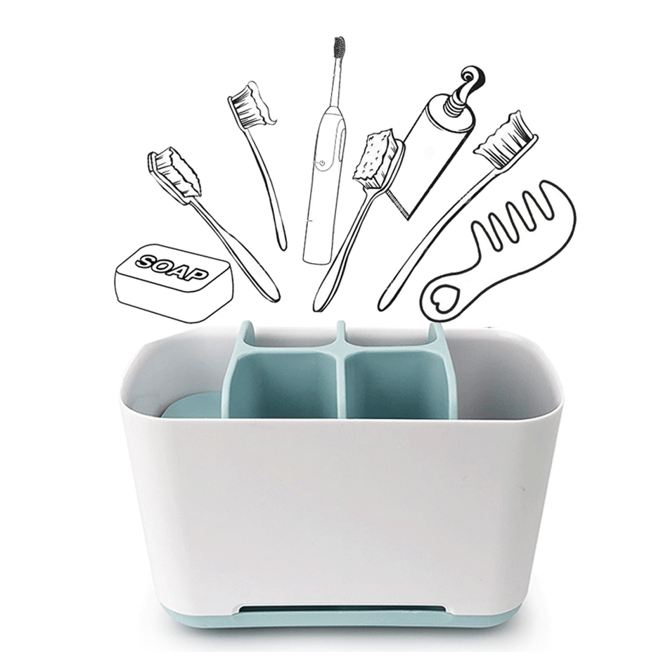 Bathroom Toothbrush Holder Toothpaste Rack Storage Box Toiletries Organizer Household Bathroom Electric Toothbrush Storage Rack
