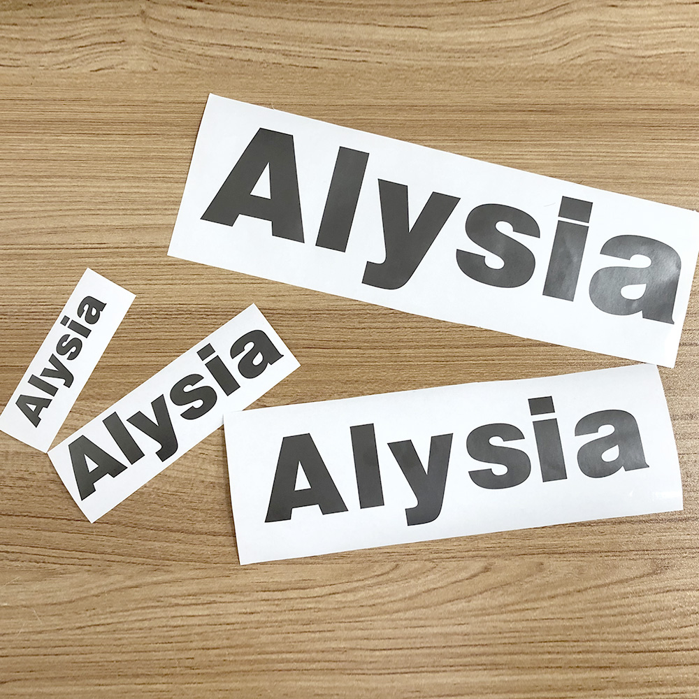 1Pcs Black Color Vinyl Custom Name Stickers PVC Cuting Name Label Waterproof Tags For Water Bottle Lanch Box Personal Craft