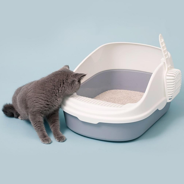 Easy Clean Cat Litter Box Excrement Training Sand PP Anti Impact With Scoop Detachable Home Pet Supplies Open Top Toilet Bedpan