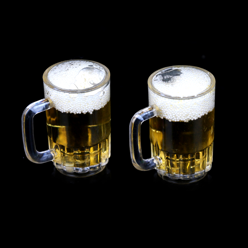 1 Cups 1/6 Scale Miniature Beer Glass Mini Furniture Model Accessories Beer With Bubbles MINI Doll house Accessories