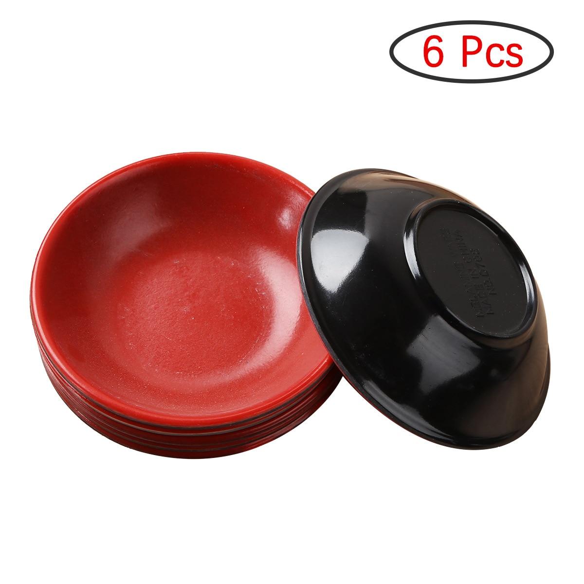 6Pcs Sauce Dishes Tableware Break Resistant Dishwasher Safe Round Melamine Sauce Dishes Dipping Bowls for Homes Restaurants