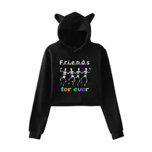 Frindes Printing Hoodies Autumn Cotton Sweatshirts For Woman Teenager Girls Harajuku Long Sleeve Hooded Pullovers Fashion Hoody(China)