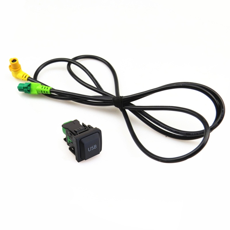 Car <font><b>USB</b></font> Input Switch Button Socket Connector adapter Cable For RCD310 RCD510 RNS315 CD player <font><b>Golf</b></font> <font><b>5</b></font> MK5 6 MK6 Rabbit Scirocco image