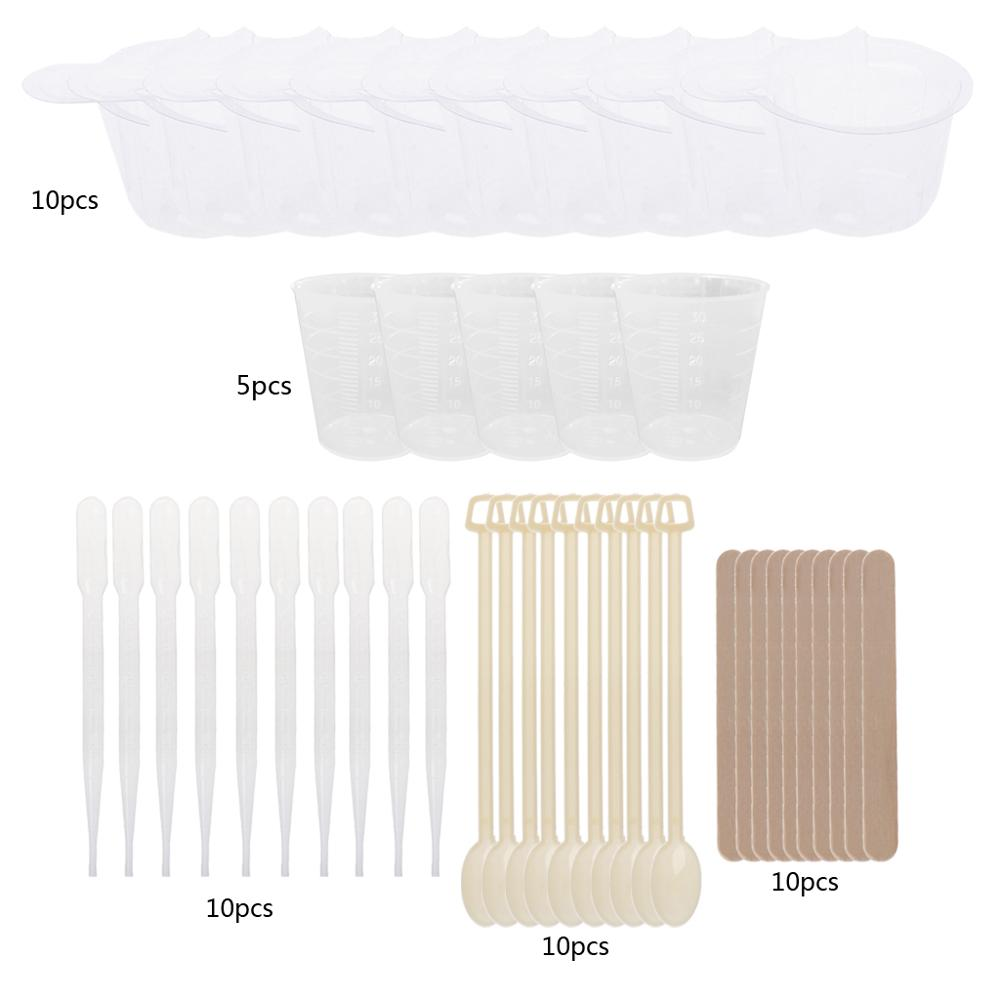 DIY Epoxy Resin Molds Jewelry Making Tool Kit With Stirrers Droppers Spoons Cups