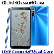 9C globalne telefony komórkowe z androidem 4GB RAM 64GB ROM czterordzeniowy smartfon 13mp twarz odblokowany Celulares WCDMA WIFI 2SIM 6.0 Cal