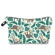 Cosmetic-Bag Travel-Storage-Bag Multi-Function Waterproof Fashion Sloth-Print Lady