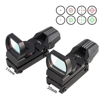 MAGORUI 11/20 mm Rail Mount Riflescope Hunting Optics Holographic Red Dot Sight Reflex 4 Reticle Tactical Gun Accessories