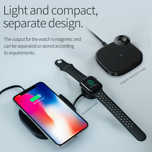 Image 2 - HOCO 2in1 Qi Wireless Charger Pad for iPhone 8 X XS Max XR for Apple Watch 4 3 2 1 10W Fast Wireless charging For Samsung S10 S9