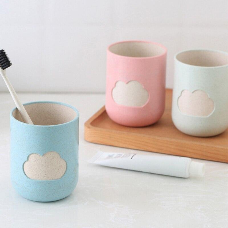Мода облако шаблон зубная щетка чашка пшеничная соломенная чашка для полоскания рта ванная комната Tumblers ванная продукт Бытовая