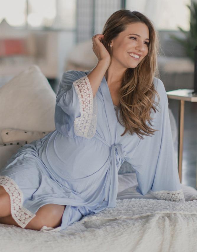 cardigan enfermagem pijamas gravidez pijamas maternidade robe sleepwear com decote em v