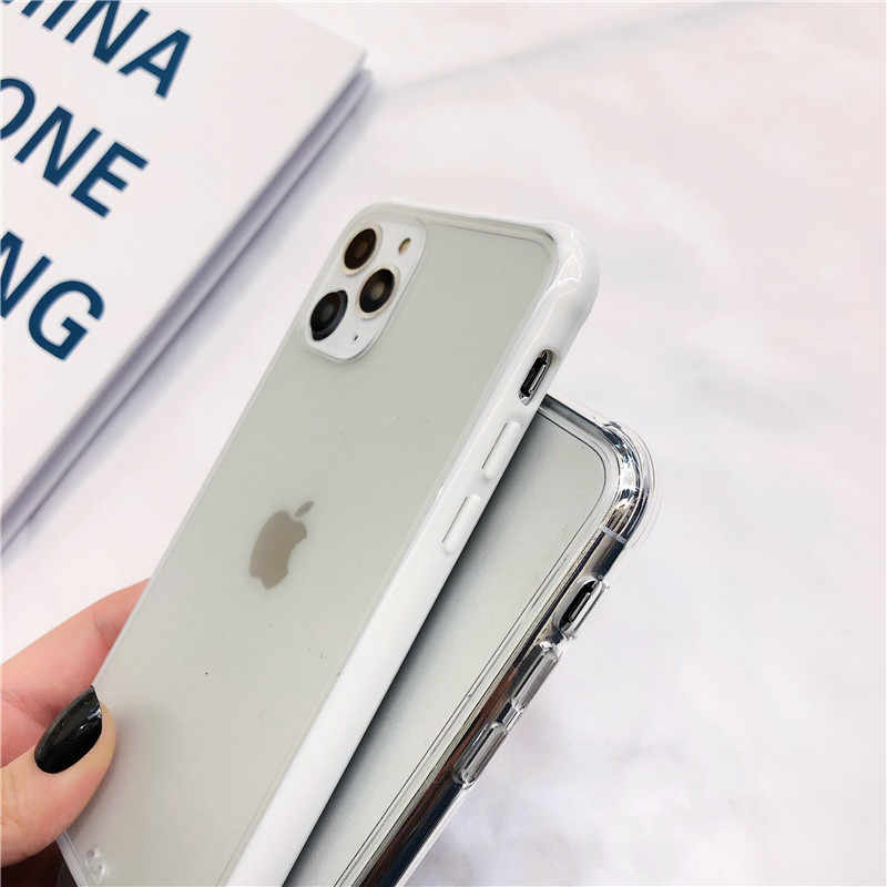 KJOEW โปร่งใสเคสโทรศัพท์สำหรับ iPhone 11 Pro X XR XS MAX 7 8 6 6 S PLUS นุ่ม + อะคริลิค Matte ปกหลัง